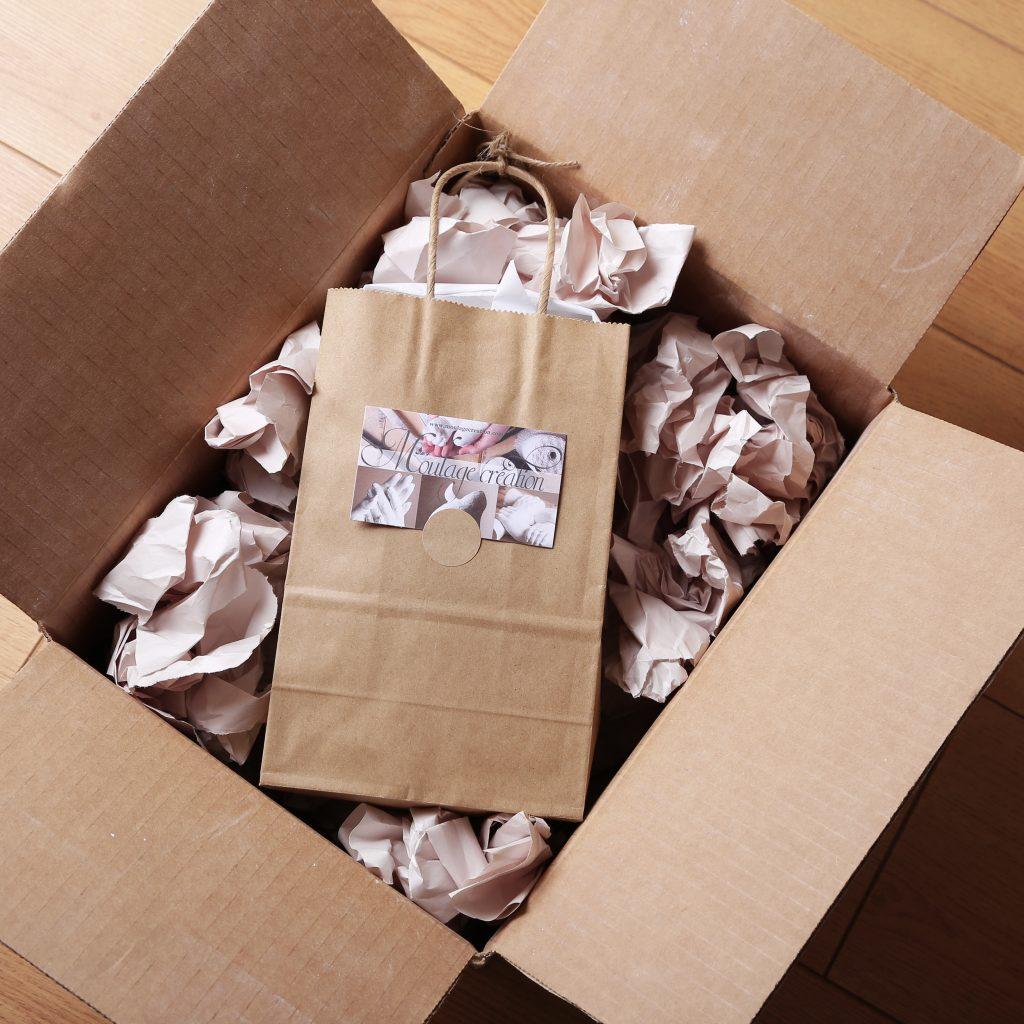 sac d'emballage pour livraison cadeau